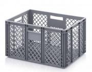 Caisse maraîcher en plastique - Dimensions extérieures (L x l x H)  : 600 x 400 x 300 - 600 x 400 x 235 mm