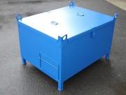 Caisse métallique avec couvercle - Charge maxi : 500 kg