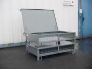Caisse métallique grillagée avec couvercle MGSP - Couvercle métallique