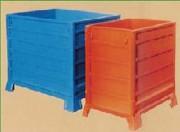 Caisse métallique modulaire et repliable - Parois en tôle d'acier nervurée ou en grillage