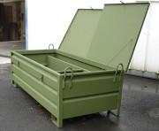 Caisse métallique spéciale avec couvercle - Charge maxi : 1000 kg
