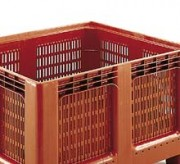 Caisse palette 543 L - Dim : L.1200 x lg.1000 x H.750 mm - Capacité  : 543 L - Résistance en charge: 450 kg