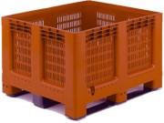 Caisse palette à 3 semelles ou 6 pieds - Dim :  L.1200 x lg.1000 x H.750 mm - Capacité : 543 L - Résistance de la charge : 450 kg