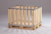 Caisse-palette avec porte mi-rabattable - Mpbox euro 70, avec porte mi-rabattable dans le sens longueur, 39830