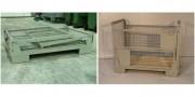 Caisse palette conteneur grillagée repliable - Charge admissible : 1000 kg