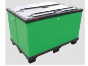Caisse palette emboîtable - Matière : REGULAR (pool palette/rotation) - Dimensions : De 400x600 à 1200x 1200mm