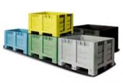 Caisse palette en plastique 1200 x 1000 - Dimensions mm : 1200 x 1000