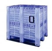Caisse palette en plastique 1400 litres - Dimensions extérieures : 1300 x 1150 x 1250 mm