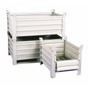 Caisse palette en tôle repliable - Parois pleines - Charge utile : 1000 kg