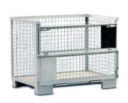 Caisse palette Europool en acier - Dimensions intérieures : 1200 x 800 x 800 mm