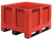 Caisse palette fond plein 1200 x 1000 - Dim : L.1200 x lg.1000 x H.750 mm - Capacité : 543 L - Résistance de charge : 450 kg