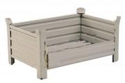 Caisse palette gerbable 500 ou 1000 Kg - Charge admissible : 500 ou 1000 Kg  -  Finition laquée gris