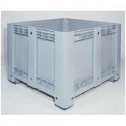 Caisse palette gerbable en plastique - Charge admissible dynamique : 510 kg