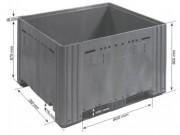 Caisse palette Gerbable recyclable - FIA : 1200 x1000 x h900 Gris 780 Litres