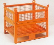 Caisse palette grillagée à 2 demi-ouvertures - Charge (kg) : 1000