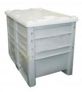 Caisse palette industrielle en plastique - Dim. ext. : 1200x800x870 mm - Dim. int. 1120x720x730