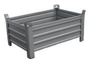 Caisse palette métallique 1200 kg - Dimensions (L x l x h) : 1200 x 800 x 500 mm