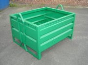 Caisse palette métallique à lyres - Capacité de charge : de 1500 à 2000 kg