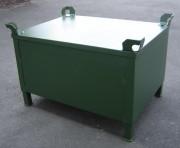 Caisse palette métallique en tôle lisse - Charge maxi : 1200 kg