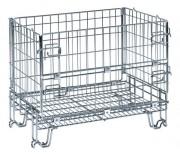 Caisse palette métallique pliable - Capacité : 300 ou 1000 Kg