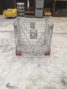Caisse palette métallique repliable 1200 Kg - Charge utile : 1200 kg