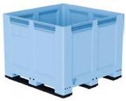 Caisse palette pehd à 3 semelles - Capacité de charge : 610 litres