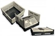Caisse palette PEHD pliante - Volume : de 680 à 1080 L
