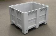 Caisse palette plastique 600 kg - Dim (Lxlxh) : 1200 x 1000 x 760 mm