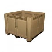 Caisse palette plastique monobloc 1000 kg - Charge admissible dynamique : 1000 kg