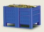 Caisse palette plastique monobloc - En PEHD - gerbable jusqu'à 4 tonnes