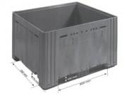 Caisse palette plastique pleine - Dim l. x Lx H : 1000x1200x785 mm  - Charge statique : 4000 Kg