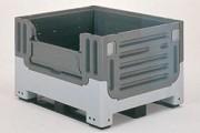 Caisse palette plastique pliable 1115 x 915 mm - 4 pieds, 61481, 4 pieds, 1 porte, 61483