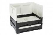 Caisse palette plastique pliable 565 litres - Capacité de charge : 470 litres - 100% recyclable