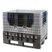 Caisse palette pliable 620 L - Dim : L.1200 x lg.800 x H.950 mm  - Capacité : 620 L - Résistance de la charge : 750 kg
