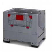 Caisse palette pliable à clapet - Dimension extérieur (L x l x h) mm : 1200 x 800 x 1000 - 1200 x 1000 x 1000