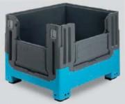 Caisse palette pliante 2 abattants 714 litres - 27903