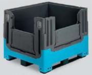 Caisse palette pliante 3 semelles 714 litres - 27909