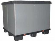 Caisse palette recyclable - 3 éléments ( Palette , rehausse, couvercle) - Dim : 1200x800x153 et 1200x1000x153mm