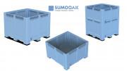 Caisse palette renforcée - Volume : de 690 à 1060 litres - 100 % Polyéthylène