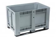 Caisse plastique 470 litres - En PEHD vierge - 2 semelles - Charge : 470 kg
