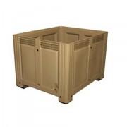 Caisse plastique à parois et fond pleins - Charge admissible Dynamique : 510 kg