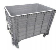 Caisse plastique amovible 550 L - Dimensions extérieures : 1200x800x800 mm - Dimensions intérieures : 1120x750x650 mm