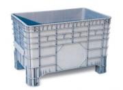 Caisse plastique avec roulettes 285 L - Dimensions extérieures : 1040x640x670 mm - Dimensions intérieures : 930 x 590 x 515 mm