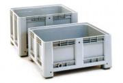 Caisse plastique parois et fond pleins - Dimensions extérieures : 1200x800x600 mm - Dimensions intérieures : 1110x710x420 mm