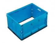 Caisse plastique pliante sans fond - Dimensions (mm) : 800 x 600 x 430