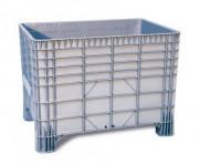 Caisse plastique polyéthylène 550 L - Dimensions extérieures : 1200x800x800 mm - Dimensions intérieures : 1120x750x650 mm