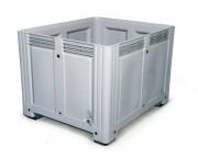Caisse plastique polyéthylène 760 L - Dimensions extérieures : 1200x1000x850 mm - Dimensions intérieures : 1120x910x695 mm