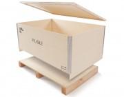 Caisse pliante bois 2 à 4 entrées - Tare : de 13 à 41 kg