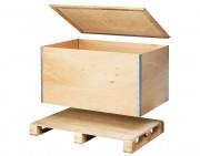 Caisse pliante bois palettisable 4 entrées - Tare (kg) : de 23 à 39