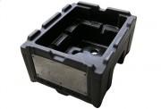 Caisse rotomoulée de stockage pièce automobile - En plastique rotomoulé - Dimensions : 451x300 mm